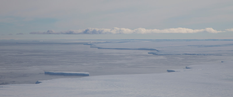 Terminus of Hull Glacier - where the land ice meets the sea ice