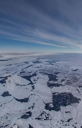 Sea ice off of Hull Glacier