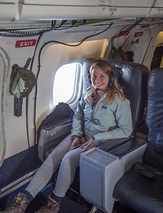 Brooke Medley, ready to go on her first IceBridge flight!