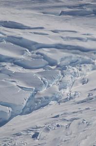 Crevasses near the edge of Land Glacier