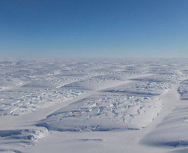 Crevassing on lower Land Glacier