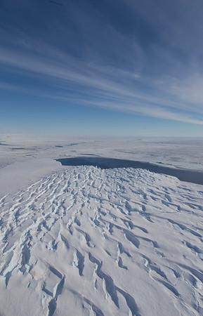 The terminus of Hull Glacier