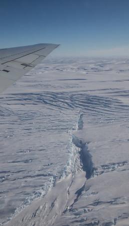 A crevasse near Land Glacier