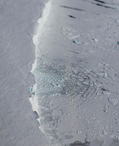 Recent calving causes radial waves in in the sea ice