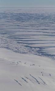 Crevasses along the edge of Hull Glacier