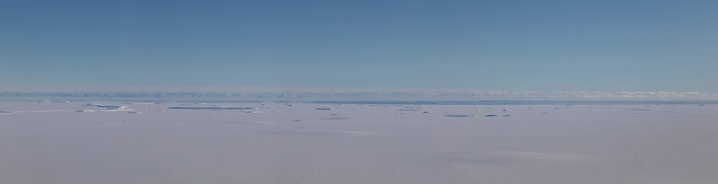 Sea ice and icebergs on the edge of the Nickerson Ice Sheet