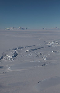 The edge of the Nickerson Ice Shelf with the Fosdick mountains in the background