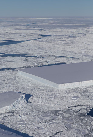 An iceberg just off the Larsen Ice Shelf and north of the A-68 iceberg