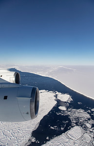 Flying up to the edge of the A68 iceberg