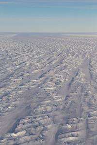 Snow covered crevasses on the Filchner Ice Shelf