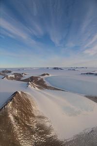 Blue ice in the Shackleton Range
