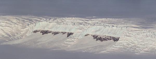 An icefall along the edge of Bailey Ice Stream