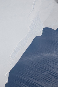 Snow blowing off the edge of the Filchner Ice Shelf