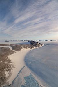Flying across the Shackleton Range to Slessor Glacier