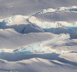 Close-up of a crevasse section on the Blackwall Ice Stream
