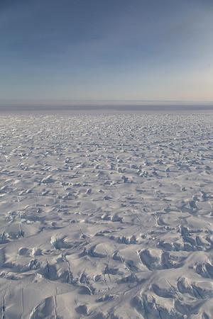 The heavily crevassed edge of Blackwall Ice Stream