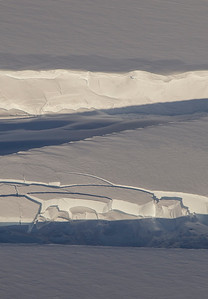 Close-up of a crevasse on the Stancomb-Wills glacier