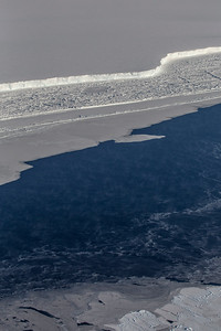 The calving front of the Brunt ice shelf
