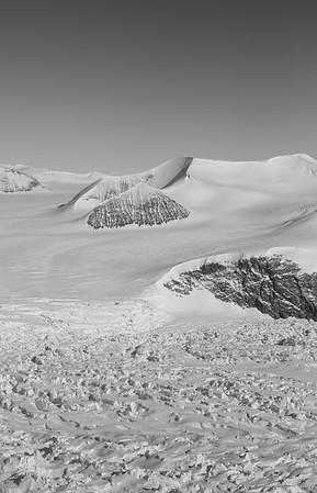 Looking up Croom and Clifford Glaciers