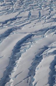 Crevasses on lower Fleming Glacier