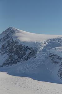 An icefall along Lurabee Glacier