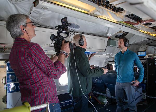 Project Scientist Joe Macgregor being interviewed by CBS