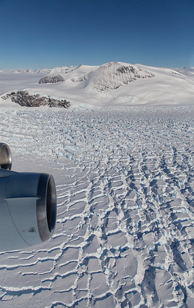 Crevasses on lower Croom Glacier