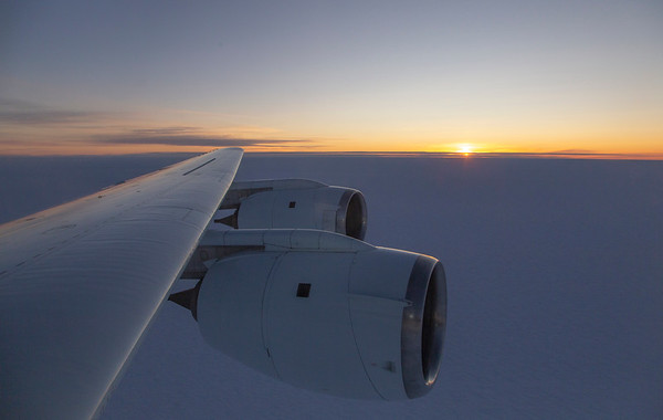 Sunset over the Brunt Ice Shelf