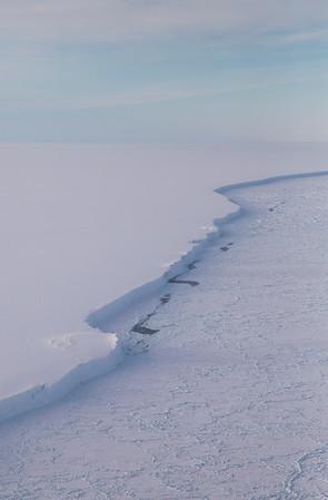 The edge of Larsen C Ice Shelf