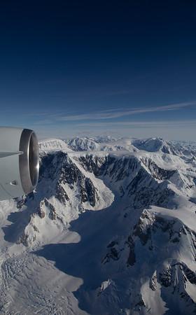 The view west over Cadman Glacier