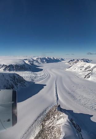 The view down Crane Glaicer as we transit across