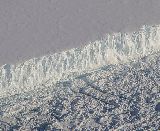 The edge of a small iceberg just south of the A-68 iceberg