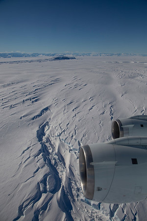 Crevasses on the remnants of Larsen B Ice Shelf