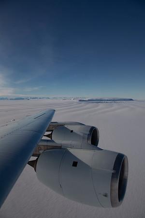 Flying across Larsen C Ice Shelf