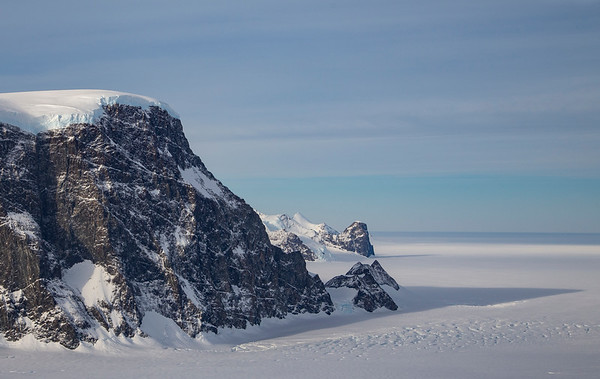 Cape Northrop from over Flint Glacier