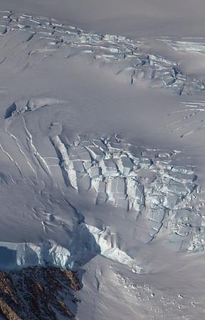 Crevasses at the top edge of Flask Glacier