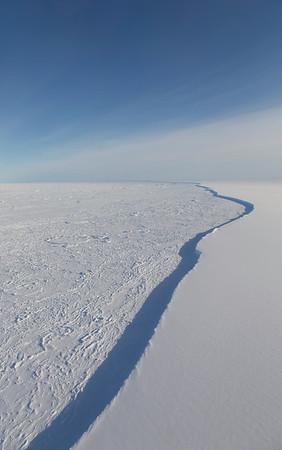 The edge of the Larsen C Ice Shelf