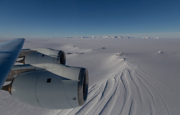 Nunataks in the Neptune Range, with the Forrestal Range in the distance