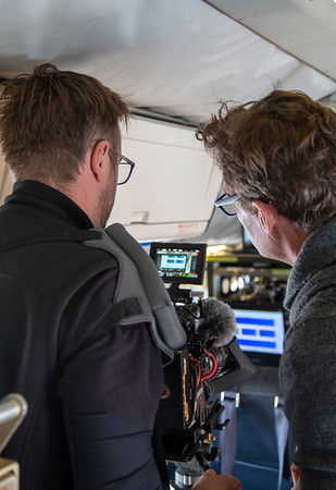 Steelhead's Justin and Craig filming ATM real-time waveforms