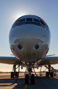 The NASA DC-8 on the Punta Arenas ramp