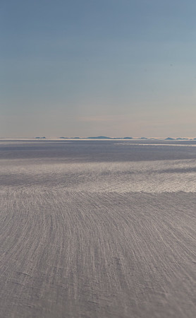 Wind blown snow streaks on Academy Glacier
