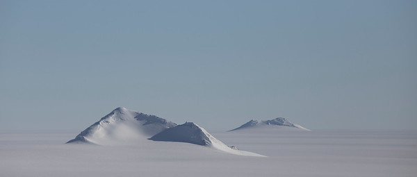 Mount Woollard (left) and Mount Moore (right)