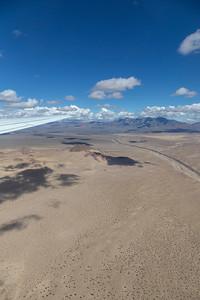 East of El Mirage on test flight #2