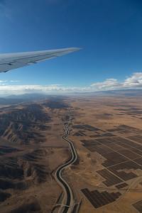 Over the California aqueduct