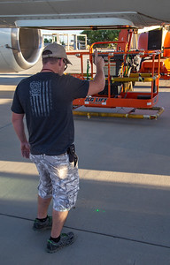 Kyle helping Alexey align the ATM mirror for ground calibrations
