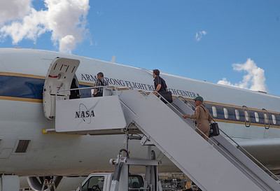 Boarding the aircraft for test flight #2