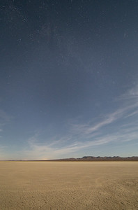 El Mirage by the light of a gibbous moon