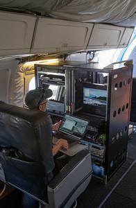 John preparing the navigation system for the transit south