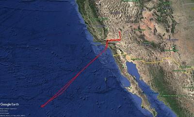 Test flight lines