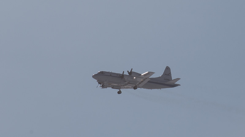 The NASA P-3 arriving back at Thule from maintenance down at NASA Wallops Flight Facility